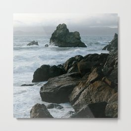 View of San Francisco Bay from Sutro Baths Metal Print