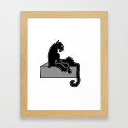 black Panther . Artwork Framed Art Print
