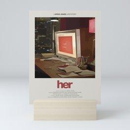 Her (2013) Minimalist Poster Mini Art Print