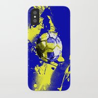 sweden iPhone & iPod Cases featuring football Sweden  by seb mcnulty