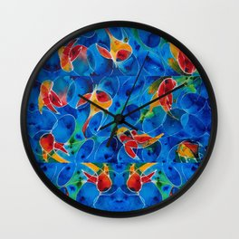 Koi Pond 2 - Liquid Fish Love Art Wall Clock