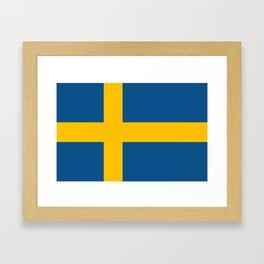 flag of sweden Framed Art Print