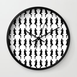 Black Bold Mod GoGo Girls Wall Clock