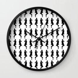 Black Bold Mod GoGo Girls Wall Clock