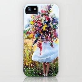 Flower Girl iPhone Case