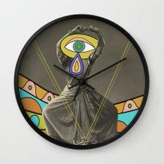psychedelic dancer Wall Clock