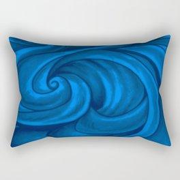 swirl (dark blue) Rectangular Pillow