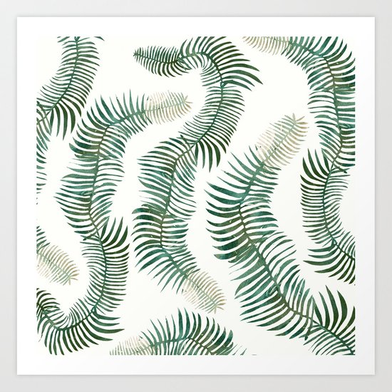 tropical leves wild Art Print