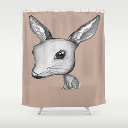 NORDIC ANIMAL - HAZEL THE HARE  / ORIGINAL DANISH DESIGN bykazandholly  Shower Curtain