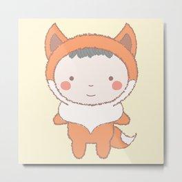 Cute Fox Kid Metal Print