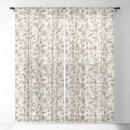 MEADOW WILDFLOWERS - Ecru Sheer Curtain