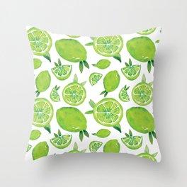 Zesty Lime Pattern Throw Pillow