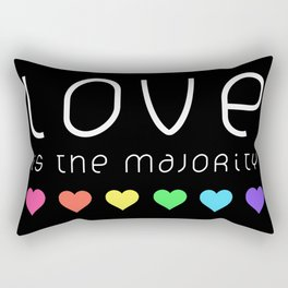 Love Is The Majority (Color) Rectangular Pillow