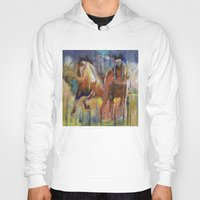 horses Hoodies featuring Horses by Michael Creese