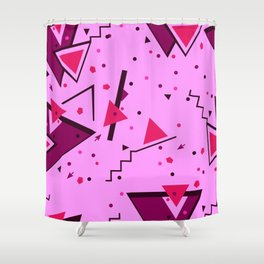 Pink Error Shower Curtain
