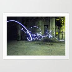 Light tag Art Print