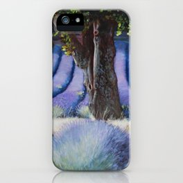 Lavender Field with Apple Tree iPhone Case