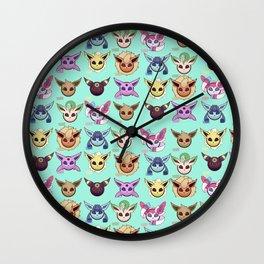 Eeveelutions Mint Wall Clock