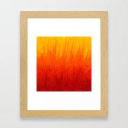 Fire and Liquid Sunshine Framed Art Print
