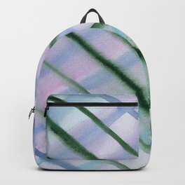 Intersection of greens || watercolor Backpack
