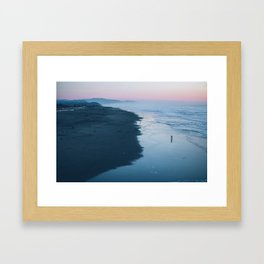 Ocean Beach at Sunset Framed Art Print