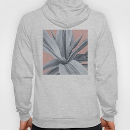 Grey Leaves. Tropical pink Hoody