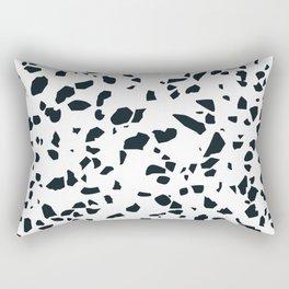 Black and white Terrazzo Asteroids Rectangular Pillow
