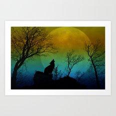 Howling wolf II Art Print