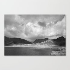 Blea Tarn with Langdale Pikes beyond. Cumbria, UK. Canvas Print
