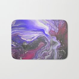 Pipe Down -  Purple Fluid Liquid Painting Pink Grey Swirls Marble Bath Mat
