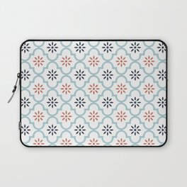 Red & Blue Mute Lattice Laptop Sleeve