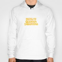 tarantino Hoodies featuring Written and Directed by Quentin Tarantino (yellow variant) by Lucas Preti