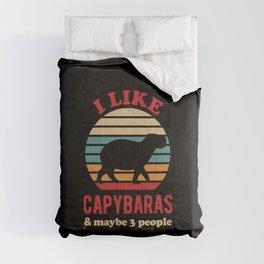 Funny Capybara Comforters