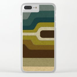 """Retro Lines"" Clear iPhone Case"