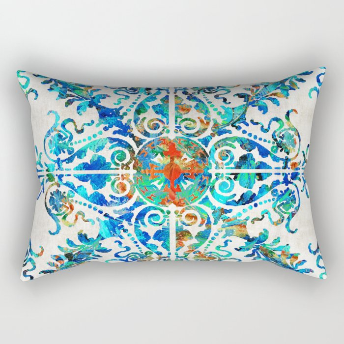 Colorful Pattern Art - Color Fusion Design 6 By Sharon Cummings Rectangular Pillow