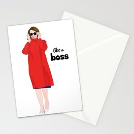 Nancy Pelosi, Red Coat and Sunglasses Stationery Cards