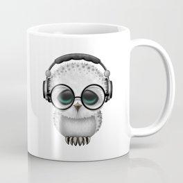 Cute Baby Owl Dj with Headphones and Glasses Coffee Mug