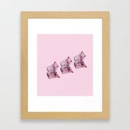 Shopping Carts Framed Art Print