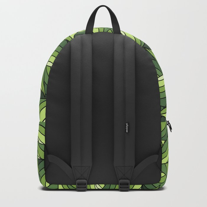 GREENERY LEAVES B  (abstract flowers nature) Backpack