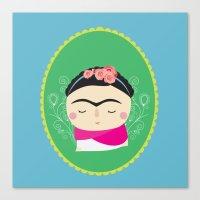 frida kahlo Canvas Prints featuring frida kahlo by WreckThisGirl