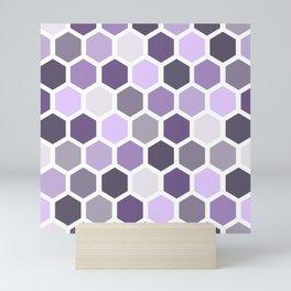 Colorful honeycomb pattern 2 Mini Art Print