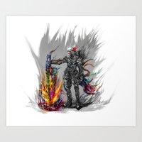 viking Art Prints featuring viking by ururuty