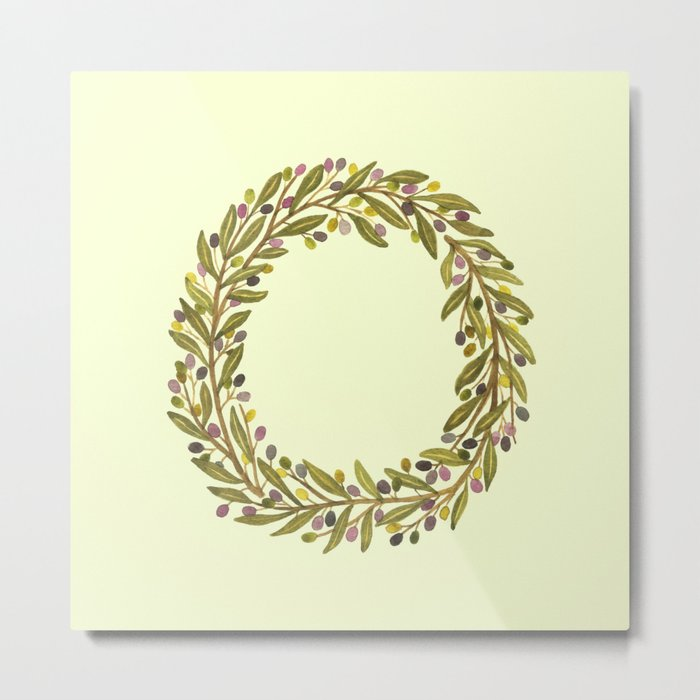 Leafy Letter O Metal Print