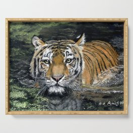 Swimming Tiger Serving Tray