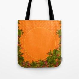 """Plants & Orange Polka Dots"" Tote Bag"