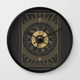 La Roue de Fortune or Wheel of Fortune Tarot Wall Clock