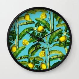 Lemon and Leaf II Wall Clock