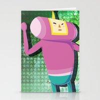 katamari Stationery Cards featuring Katamari Cousins - Macho by cakeisforrobots
