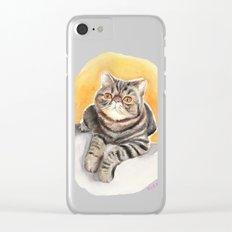 Persian cat Clear iPhone Case