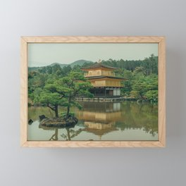 Gold Temple (Kinkaku|-ji) of Kyoto, Japan | Photo print color | Serene Travel Photography Framed Mini Art Print